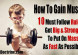 10 rules you must follow to gain muscle mass fast