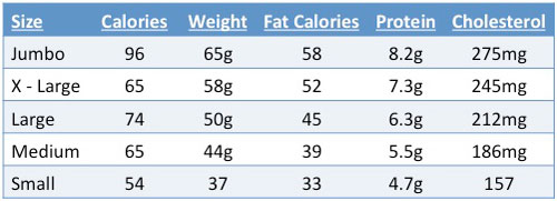 How many calories in an egg plus nutrition information