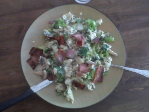 egg recipe turkey bacon scramble healthy recipes