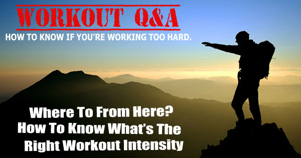 Fitness Doctrine Q&A Workout Intensity