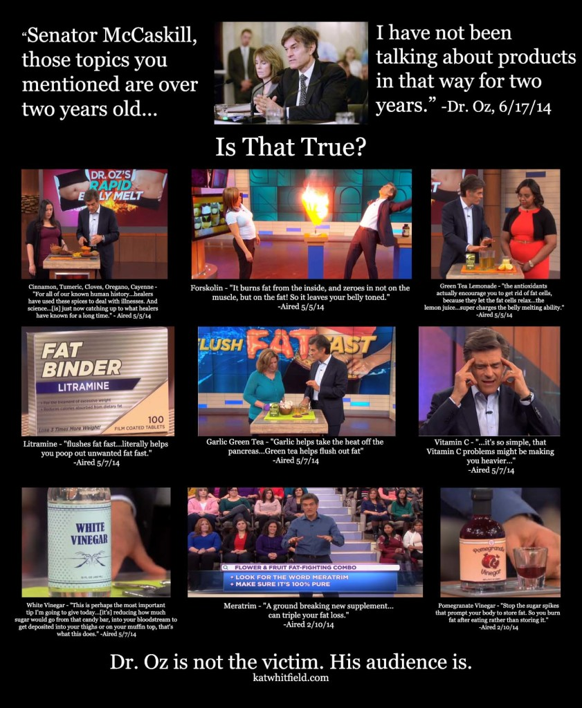 dr.oz lies