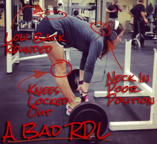 common errors in the RDL exercise